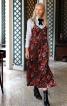 Сукня-комбінація триярусна з розрізами - фото 1