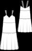 Сукня-комбінація триярусна з розрізами - фото 3