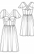 Сукня-корсаж з рукавами-крильцями - фото 3