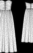 Сукня-корсаж довга з пишною спідницею - фото 3