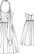 Сукня-корсаж з бретеллю-петлею - фото 3