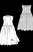 Сукня-бюстьє з мереживною спідницею - фото 3