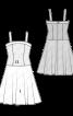 Сукня-бюстьє з атласною спідницею - фото 3