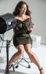 Сукня міні з накидкою-хомутом - фото 1