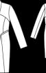 Сукня-пальто двобортна приталеного силуету - фото 3