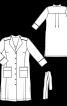 Сукня-пальто з коміром-стойкою - фото 3