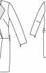 Сукня-пальто з контрастними лацканами - фото 3