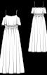 Сукня максі з воланами на ліфі - фото 3