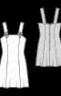 Сарафан короткий приталеного силуету - фото 3