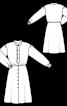 Сукня-сорочка зі знімною планкою-жабо - фото 3