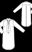 Сукня прямого крою зі складкою на спинці - фото 3