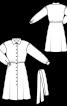 Сукня відрізна із сорочковим коміром - фото 3