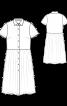 Сукня-сорочка з призбореною спідницею - фото 3