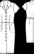 Сукня-сорочка із напуском на спинці - фото 3