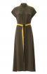 Сукня-сорочка з коміром-стойкою - фото 2