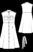 Платье-рубашка с воротником-стойкой - фото 3