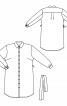 Сукня-сорочка із наскрізною застібкою і пишними рукавами - фото 3