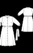 Платье-рубашка с воротником стойкой и укороченными рукавами - фото 3