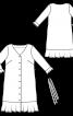 Сукня з наскрізною застібкою - фото 3