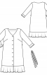Сукня з V-подібним вирізом і воланами - фото 3