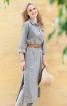 Сукня сорочкового крою з боковими розрізами - фото 1