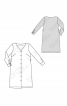 Сукня сорочкового крою з V-подібним вирізом без коміра - фото 3