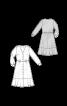 Сукня-сорочка з широким воланом - фото 3
