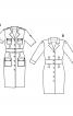 Сукня-сорочка з широким вшивним поясом - фото 6