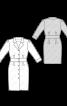 Сукня-сорочка з широким вшивним поясом - фото 3