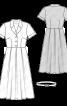 Сукня-сорочка довжини міді зі спідницею в складку - фото 3