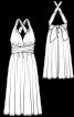 Сукня-трансформер із довгими зав'язками - фото 3