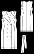 Сукня двобортна в стилі тренчкота - фото 3