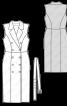 Сукня-жилет з вузьким поясом - фото 3