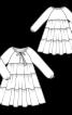 Сукня багатоярусна А-силуету - фото 3