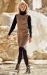 Сукня А-силуету зі штучної замші - фото 1