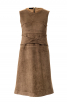Сукня А-силуету зі штучної замші - фото 2