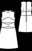 Сукня А-силуету з рельєфними швами - фото 3