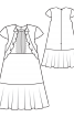 Сукня з воланами у рельєфних швах - фото 3