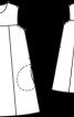 Сукня А-силуету з металізованої тканини - фото 3
