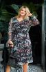 Платье А-силуэта с длинными рукавами - фото 1