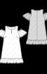 Сукня з рукавами-крильцями і відкритими плечима - фото 3