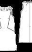 Сукня А-силуету з кантом в рельєфних швах - фото 3