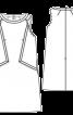 Сукня-футляр А-силуету з рельєфними швами - фото 3