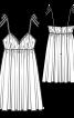 Сукня на тонких бретелях і з високою талією - фото 3