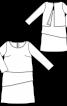 Сукня багатоярусна з вирізом-човником - фото 3