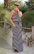 Сукня максі трикотажна на тонких бретелях - фото 1