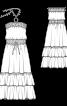Сукня максі з буфами і воланами - фото 3