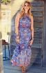Сукня максі з буфами і воланами - фото 1
