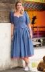 Сукня в баварському стилі з баскою - фото 1