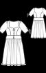 Сукня в баварському стилі з баскою - фото 3